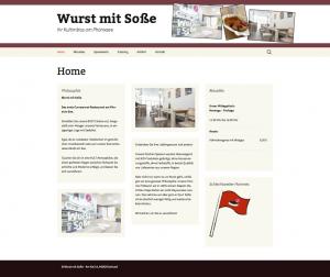 Webseite Wurst mit Soße